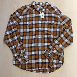 Luck Brand Lightweight Plaid Shirt XL NWT